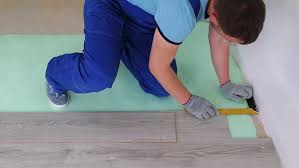 Professional Laying Laminate On The Floor   HD Stock Video Clip