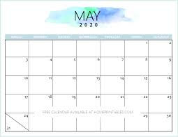 Free Calendars For 2020 Free 2020 Calendar Printable Simple And Very Pretty