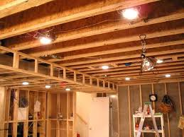 unfinished basement lighting. Lighting For Unfinished Basement Ceiling Prodigious Ideas Bright Lamp Home Interior 16 B