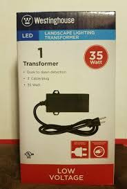 westinghouse 35 watt led low voltage landscape lighting transformer 35w