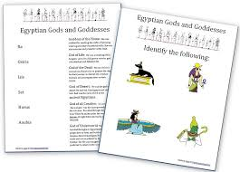 Ancient Egypt: Gods, Goddesses and Myths (Free Worksheet Set ...