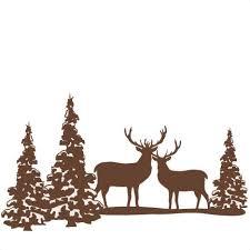 Wildtiere Weihnachtsbaum Silhouette Weihnachten