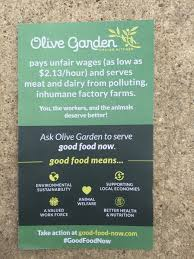 Olive Garden Kitchen Secrets Olive Garden Targeted In Minimum Wage Animal Welfare Protests Eater