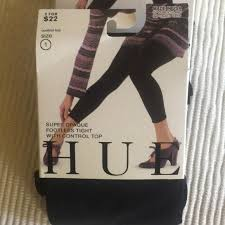 Hue Control Top Tights Size Chart Lot X 3 New Hue Footless Tights Boutique