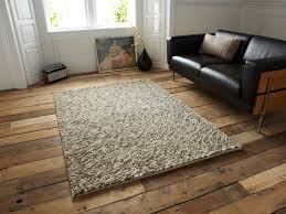 exclusive hand knotted wool rug picture 2 of 3 modern 100 floor thick pebble effect large