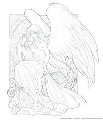 Angel Coloring Pages For Adults Dariokojadininfo
