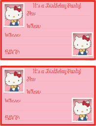 Hello Kitty Printables Birthday Invitations Mpp