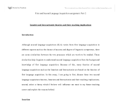 innatist and interactionist theories and their teaching document image preview