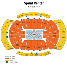 Sprint Center Seating Chart With Rows And Seat Numbers Sprint Center Kansas City Tickets Schedule Seating