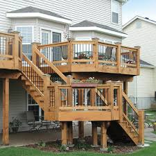 image of how to build deck stairs for outdoor