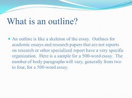 pasco hernando community college tutorial series ppt  what is an outline an outline is like a skeleton of the essay