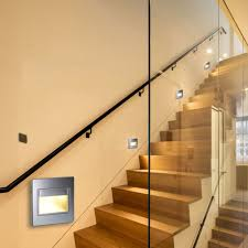 image of glass motion sensor stair lights