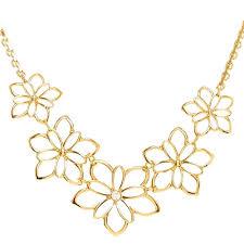 elegant gold flower necklace or gold flower statement necklace 25 swarovski rose gold flower necklace
