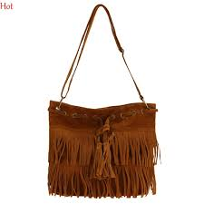 women messenger bags faux leather suede handbags fringe tassel shoulder bag female bolsas fashion korea cross bag brown black sv013740 fashion bags