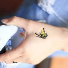 3d Móda Nepromokavý Tělo Umění Květina Motýl Růžový Rána Kryt Dočasné Tetování Samolepky