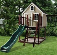 kids tree houses with slides. Outdoor Playhouse With Slide Kids Tree Houses Slides U