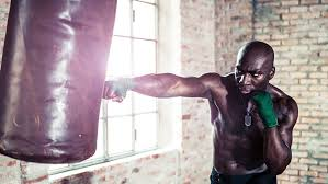 get in shape with a heavy bag workout