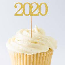 <b>12pcs 2020</b> Cake Topper <b>2020 New Year</b> Party Decoration ...
