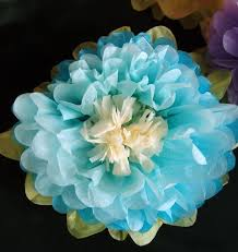 Paper Flower Tissue Paper 14 Inch Multi Color Tissue Paper Flower Decorations Turquoise Combo 3 Pack On Sale Now Wedding Decorations