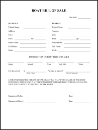 Standard Bill Of Sale For Boat Boat Bill Of Sale Form Bill Of Sale Template Real Estate