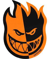 spitfire stickers. spitfire two-tone orange \u0026 black medium sticker stickers i