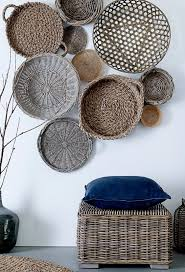 unique ideas for wall art baskets