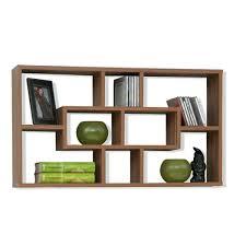 brown wall shelf decoration