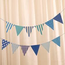 2019 paper flags baby shower blue diy banner with string happy birthday party decoration bunting kids favors supplies 15cm 17cm from huojuhua