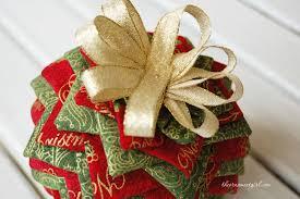 how to make a folded fabric ornament – The Ornament Girl & how to make a folded fabric ornament Adamdwight.com