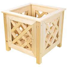 bentley garden nordic spruce wooden planters with lattice design square rectangular available 1
