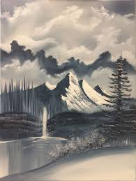this bob ross painting titled two seasons is a painting in which bob painted