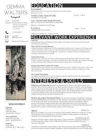 Fashion Design Resume Template Free Resume Template Design Fashion