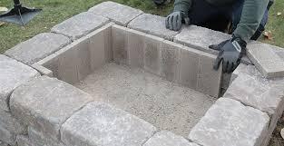 adding fire bricks inside custom fire pit