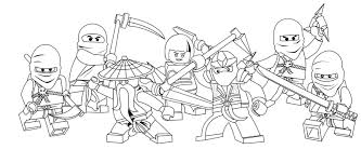 Small Picture Printable Coloring Pages Lego Ninjago