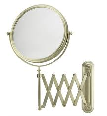 aptations 233135 mirror image 7 7 8 wall mount extension arm double sided magnified makeup mirror