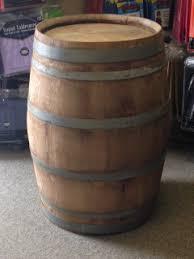 Large Weathered Wine Barrel