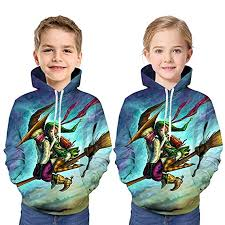 XuBa Boys and Girls Children Hoodies <b>Halloween</b> Cartoon Pattern ...