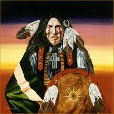portrait in oil southwest art native american indian painting chief portraits artist rick