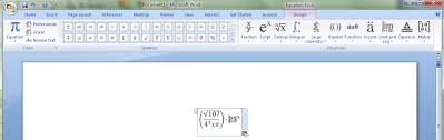 ms word 2007 math input panel 3 once you create the basic formula