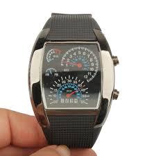 best aviator watches promotion shop for promotional best aviator best watches led digital light binary matrix aviation men sport black ll
