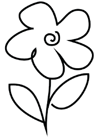 Free Printable Simple Flower Coloring Pages Simple Flower Coloring