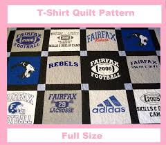 Tshirt Quilt Pattern PDF E-Book How to Make a T-Shirt & 🔎zoom Adamdwight.com