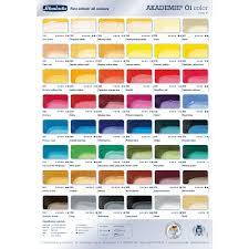 M Graham Color Chart Schmincke Akademie Oil Paint Colour Chart