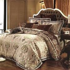 brown tan and royal gold pattern retro style themed noble excellence luxury expensive cotton satin queen size bedding sets moroccan inspired bedding uk