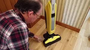 karcher fc5 hard floor cleaner in action