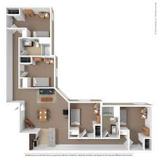 4 Bedroom Apartments In Maryland Plans Cool Design Ideas