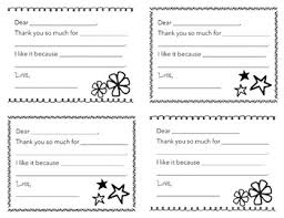 Blank Thank You Notes Fill In The Blank Thank You Notes For Kids