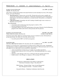 Account Manager Resume Template Sales Account Manager Resume Example Free