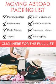 moving abroad ng checklist