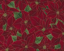 Metallic Patchworkstoff Berries And Blooms Weihnachtsstern Dunkelrot Gold